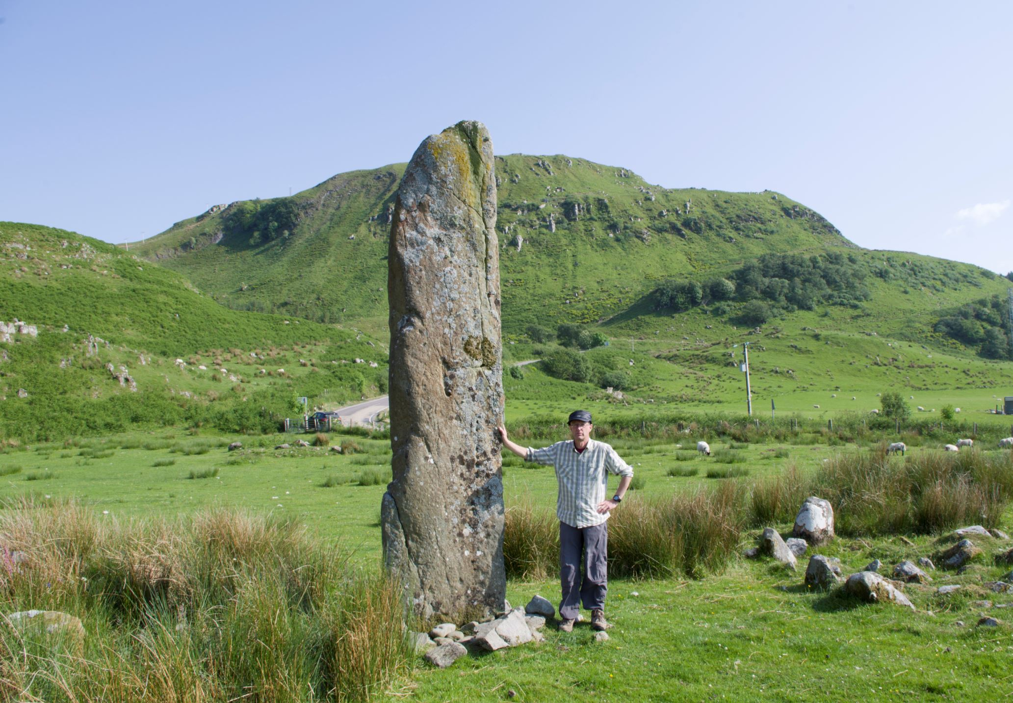 The standing stone at Kintraw, Argyll