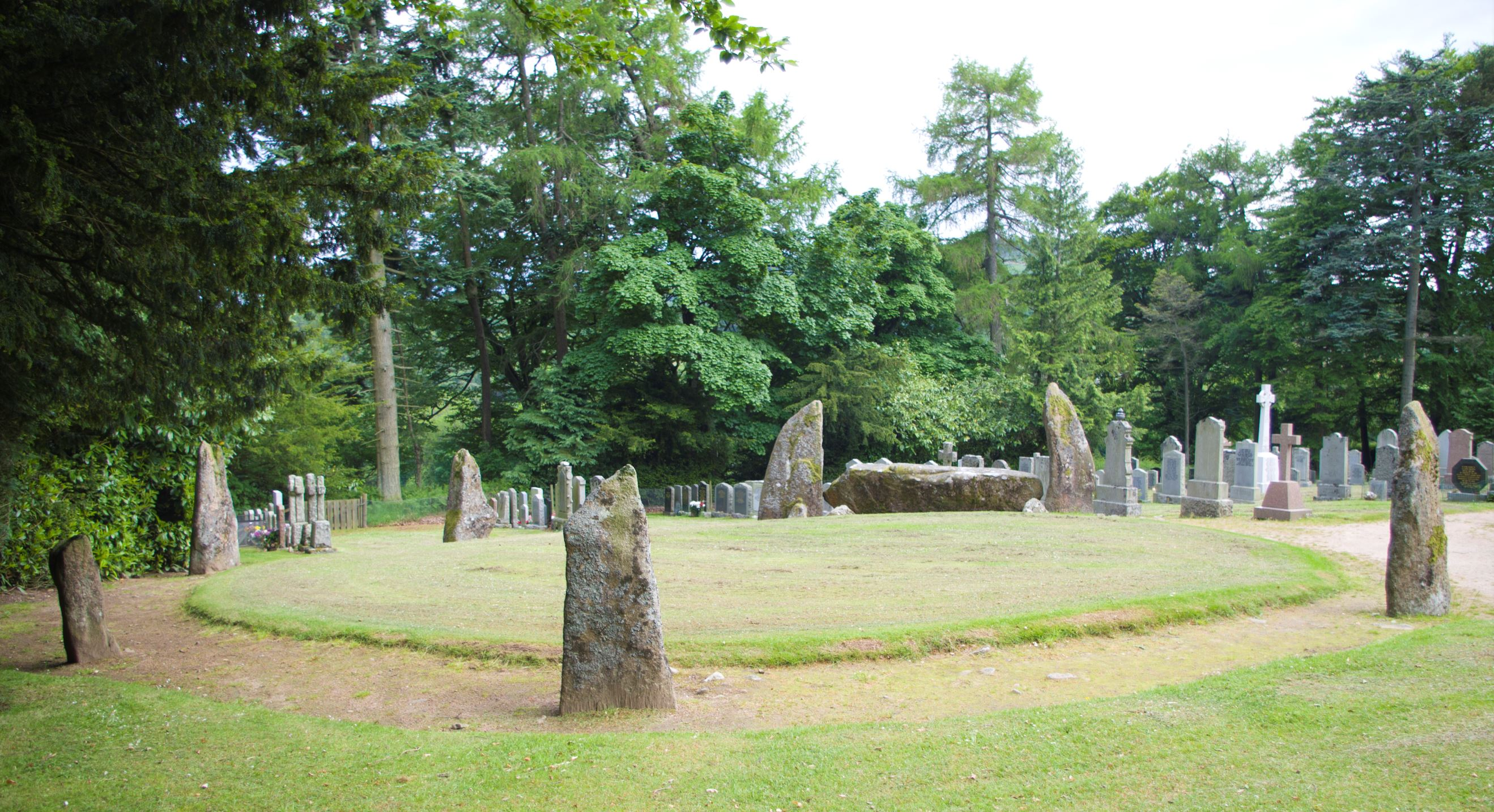 The prehistoric recumbent stone circle at Midmar kirk