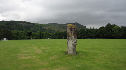Airthrey Castle standing stone looking north east