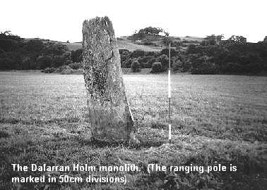 Dalarran Holm standing stone - photo