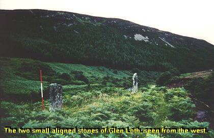 Glen Loth - photo of standing stones