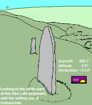 Glen Loth standing stones - drawing