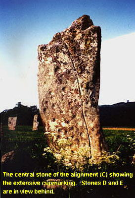 Nether Largie central standing stone