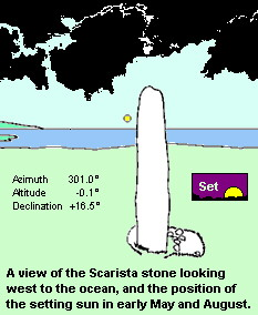 Scarista standing stone - NW